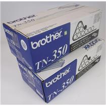 Lot of 2 New NIB Genuine OEM Brother TN-350 Toner Cartridge