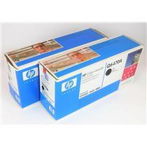Lot of 2 NEW HP Q6470A Black Color Print Toner Cartridge for LaserJet 3500 3550