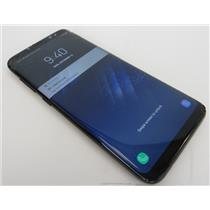 Samsung Galaxy S8 SM-G950U 64GB Black Phone W/ Good Verizon IMEI - HAS CRACKS
