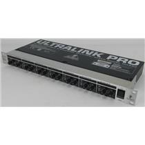 Behringer ULTRALINK PRO MX882 V2 8-Channel Splitter/Mixer 4 XLR/2 TRS+ XLR Mains