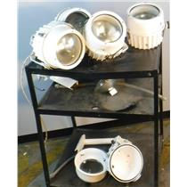 Lot of 4 Altman Outdoor Par 64 Fixtures, Lamps and Mounting Arms with Spares