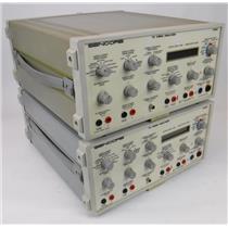 Lot of 2 Sencore TV Video Analyzer Model TVA92 Test Equipment PARTS NOT WORKING
