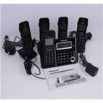 NEW Genuine Panasonic KX-TGF345 Digital Cordless Answering System 5 Handsets