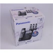 NEW Genuine Panasonic KX-TGF544B Digital Cordless Answering System 4 Handsets