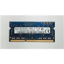 Hynix 2GB PC3-12800 DDR3-1600 non-ECC Unbuffered SODIMM 1.35V HMT325S6CFR8A-PB