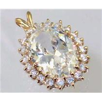 P270, Cubic Zirconia 14K Gold Pendant