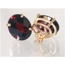 E202, Mozambique Garnet, 14k Gold Earrings