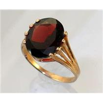 R280, Mozambique Garnet, Gold Ring