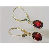 E007, Mozambique Garnet, 14k Gold Earrings