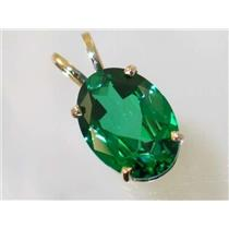 P084, Emerald Spinel 14k Gold Pendant