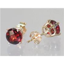E012, Mozambique Garnet, 14k Gold Earrings