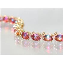 B001, Twilight Fire Topaz Gold Bracelet
