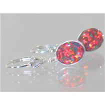 SE101, Created Red/Brown Opal, 925 Sterling Silver
