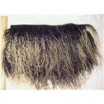 "2 "" frosted black tibetan lambskin no seam wig 23278"