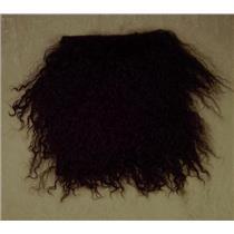 "2"" sq   Dark Spanish Brown  tibetan lambskin  wig seam 11376"