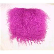 "2"" sq  Medium purple  tibetan lambskin fur wig  11382"