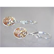 SE101, Champagne CZ, 925 Sterling Silver Earrings