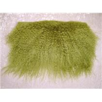 "2""  Fresh Green tibetan lambskin wig no seams  11832"