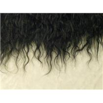 "3"" wavy Black Tibetan lamb skin no seams 22236"