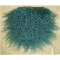 """11"""" sq  Deep Turquoise Tibetan lambskin wig 22562"""