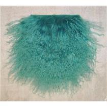 "2"" brilliant turquoise  tibetan lambskin no seam 11466"