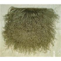 "2"" sq   Gray tibetan lambskin no seams wig 11493"