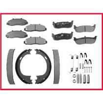 03 06 Town Car LIMO  F&R Ceramic Brake Pads & Em Shoes Parking Brake Shoes & Spr