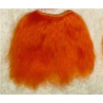 "Yak hair weft Bright orange 2% clown wig 6x58"" 23058 QP"