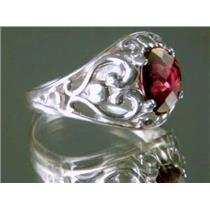SR111, Mozambique Garnet, 925 Sterling Silver Ring