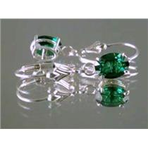 Russian Nanocrystal Emerald, 925 Sterling Silver Earrings, SE007