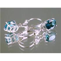 Paraiba Topaz, 925 Sterling Silver Earrings, SE007