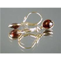 E001, Mozambique Garnet, 14k Gold Earrings