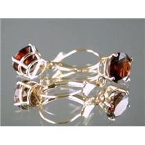 E117, Mozambique Garnet, 14k Gold Earrings