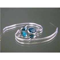 SE005, Paraiba Topaz Sterling Silver Earrings