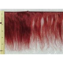 "Yak hair weft red wine  5-6"" x 210"" 23506 FP"