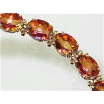 B002, Twilight Fire Topaz Gold Bracelet