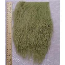 "2"" sq  Avacado green   tibetan lambskin  wig  23717"