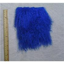"2 ""sq Cobalt blue tibetan lambskin wig with seam 23826"