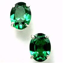 SE002, Russian Nanocrystal Emerald, 925 Silver Earrings