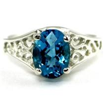SR305, Swiss Blue Topaz 925 Sterling Silver Ring