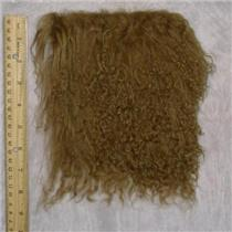 "3 ""sq Dark honey tibetan lambskin wig doll hair  23952"