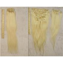 "blonde #613 silky human hair clip in 18""x50 g 23989A HP"
