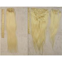 "blonde #613 silky human hair clip in 18""x100 g 23988 FP"