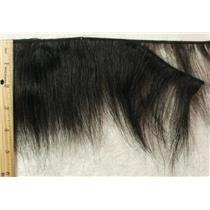 "Black feathered short human hair weft 3-5""x 130""  24194"