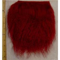 Carmine tibetan lamskin scrap sample size 1/10 oz 24362