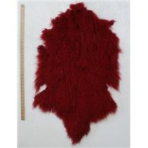 full pelt fine carmine red Tibetan lambskin  24549