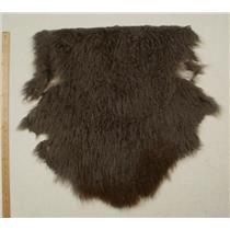 Half pelt fine dark gray 2 tone Tibetan lambskin 24581