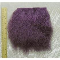 "2"" sq  dusty plum  tibetan lambskin no seams 24820"