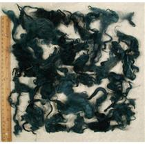 "deep Teal  Suri Alpaca 3-7"" cria wool dyed 1 oz 24874"