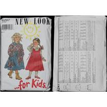 pattern New look for kids #6297 Dress,Blouse and pinafore size 3 to 8  25030